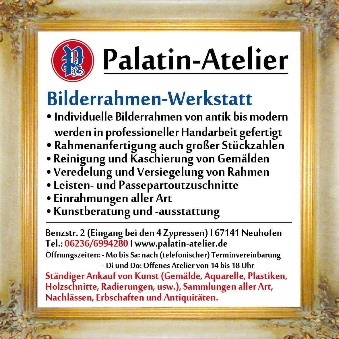 Palatin-Atelier - Kunst-Atelier und Bilderrahmen-Werkstatt